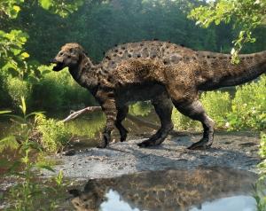 Un Edmontosaurus. Fillon es de Edmonton. Los dinosaurios siempre son relevantes.