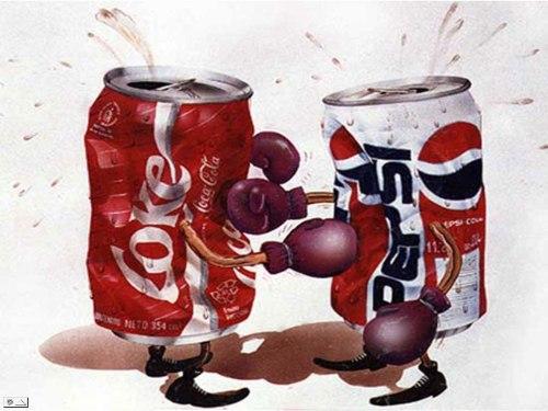 Coca Cola siempre ha golpeado más fuerte a Pepsi que al revés.