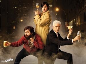 El reparto principal, con tres grandes de la comedia